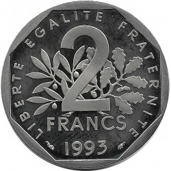 FRANCE 2 FRANCS ROTY 1993 BE