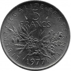 FRANCE 5 FRANCS ROTY 1977 SUP