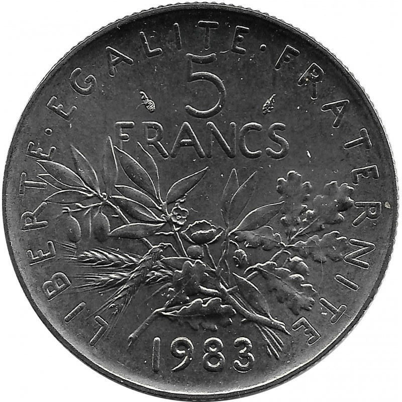 FRANCE 5 FRANCS ROTY 1983 SUP/NC