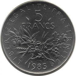 FRANCE 5 FRANCS ROTY 1985 FDC