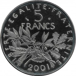 FRANCE 5 FRANCS ROTY 2001 BE