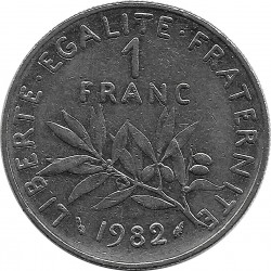 FRANCE 1 FRANC ROTY 1982 SUP-