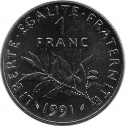 FRANCE 1 FRANC ROTY 1991 FRAPPE MEDAILLE SUP/NC