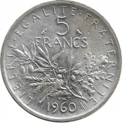 FRANCE 5 FRANCS ROTY 1960 SUP+