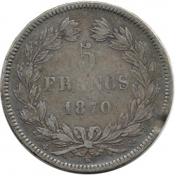 FRANCE 5 FRANCS CERES 1870 K (Bordeaux) ANCRE TB