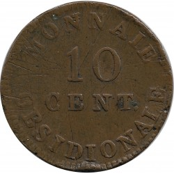 FRANCE 10 CENTIMES OBSIDIONALE 1814 TB