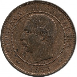 FRANCE 10 CENTIMES NAPOLEON III 1853 A SUP+