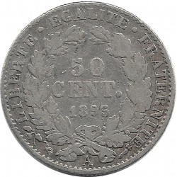 FRANCE 50 CENTIMES CERES 1895 A TB