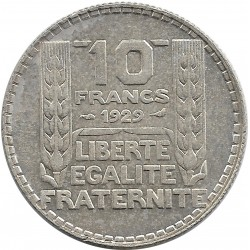 FRANCE 10 FRANCS TURIN 1929 SUP-