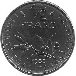 FRANCE 1/2 FRANC ROTY 1982 FDC