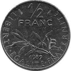 FRANCE 1/2 FRANC ROTY 1989 SUP