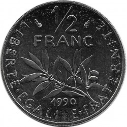 FRANCE 1/2 FRANC ROTY 1990 SUP/NC