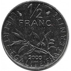 FRANCE 1/2 FRANC ROTY 2000 SUP