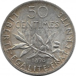 FRANCE 50 CENTIMES ROTY 1898 TTB+