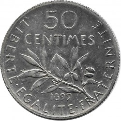 FRANCE 50 CENTIMES ROTY 1899 TTB