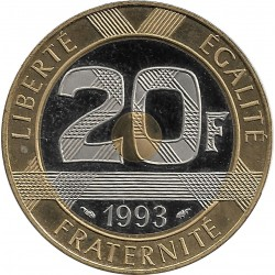 FRANCE 20 FRANCS MONT ST MICHEL 1993 BE belle epreuve