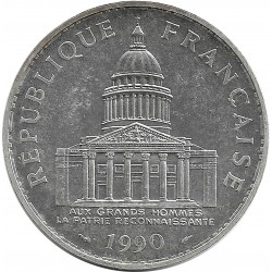 FRANCE 100 FRANCS PANTHEON 1990 SUP/NC