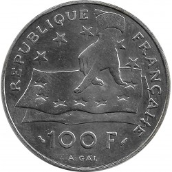 FRANCE 100 FRANCS DESCARTES...