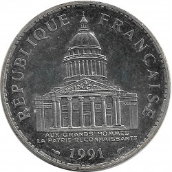 FRANCE 100 FRANCS PANTHEON 1991 SUP 5.011 EX.