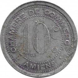 80 SOMMES - AMIENS 10 CENTIMES 1920 TTB-