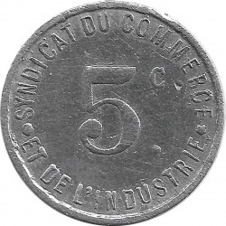 17 CHARENTE MARITIME - ROCHEFORT 5 CENTIMES 1917 TB