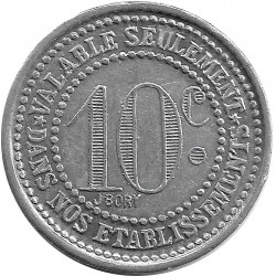 03 ALLIER - VICHY 10 CENTIMES 1923 SUP