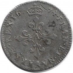 LOUIS XIV (1643-1715) 4 SOLS DIT DES TRAITANTS 1674 A (PARIS) TB+