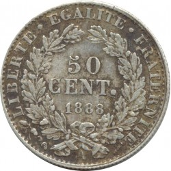FRANCE 50 CENTIMES CERES 1888 A (Paris) TTB