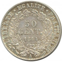 FRANCE 50 CENTIMES CERES 1894 A (Paris) TTB+