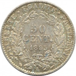 FRANCE 50 CENTIMES CERES 1895 A (Paris) SUP-
