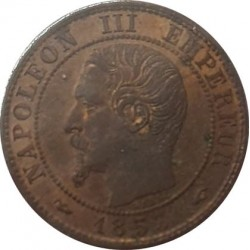 FRANCE 1 CENTIME NAPOLEON III 1853 A SUP