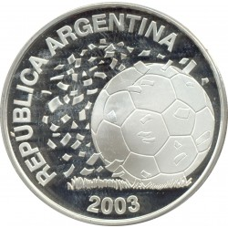 ARGENTINE 5 PESOS 2003 FIFA WORLD CUP 2006 ALLEMAGNE SUP/NC ARGENT