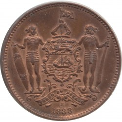 BORNEO BRITANIQUE (BRITISH NORTH BORNEO) 1 CENT 1888 H TTB+