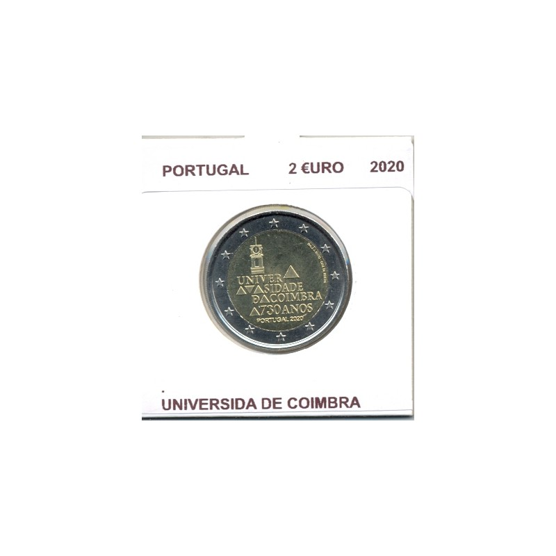 PORTUGAL 2020 2 EURO COMMEMORATIVE 730 ANS UNIVERSIDA DE COIMBRA SUP