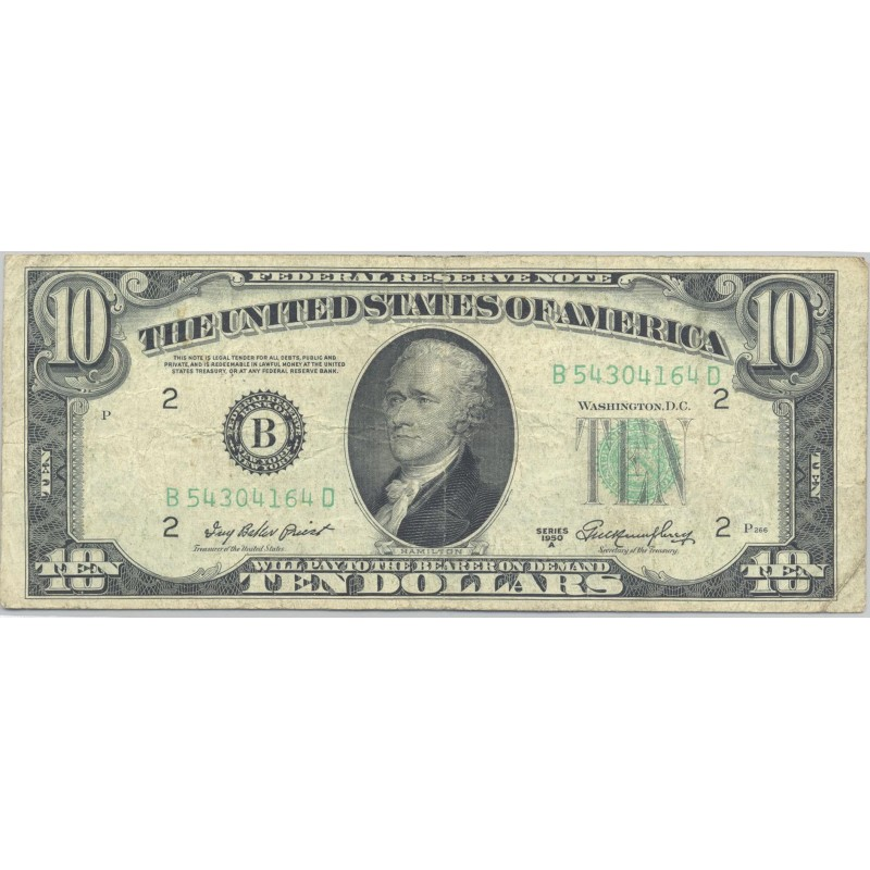 U.S.A. (New York) 10 DOLLARS 1950 A SERIE B TB+