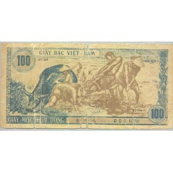 VIET NAM 100 DONG NON DATE (1947) SERIE YT084 AB