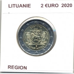 LITUANIE 2020 2 EURO COMMEMORATIVE REGION SUP