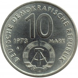 ALLEMAGNE DDR 10 MARK 1973 A 10 ANS FESTIVAL BERLIN SUP