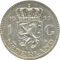 HOLLANDE 1 GULDEN 1955 TTB+ N2