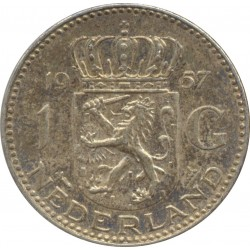 HOLLANDE 1 GULDEN 1957 TTB