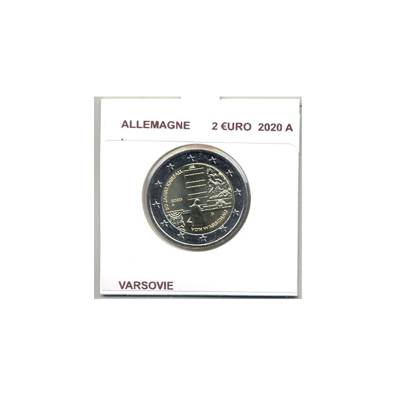 ALLEMAGNE 2020 A  2 EURO COMMEMORATIVE VARSOVIE SUP