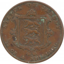 JERSEY 1/26 SHILLING VICTORIA 1858 TB+ N1