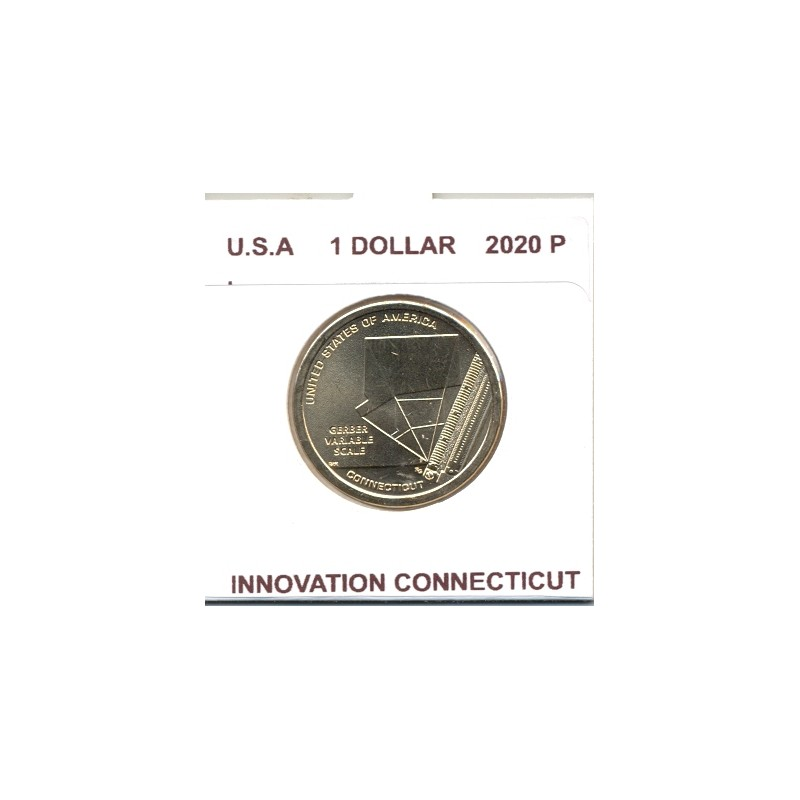 AMERIQUE ( U.S.A ) 1 DOLLAR 2020 P INNOVATION CONNECTICUT SUP