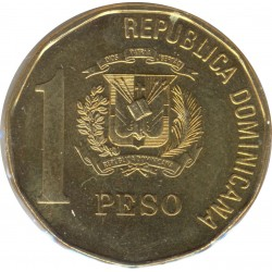 REPUBLIQUE DOMINICAINE 1 PESO 2005 TTB+