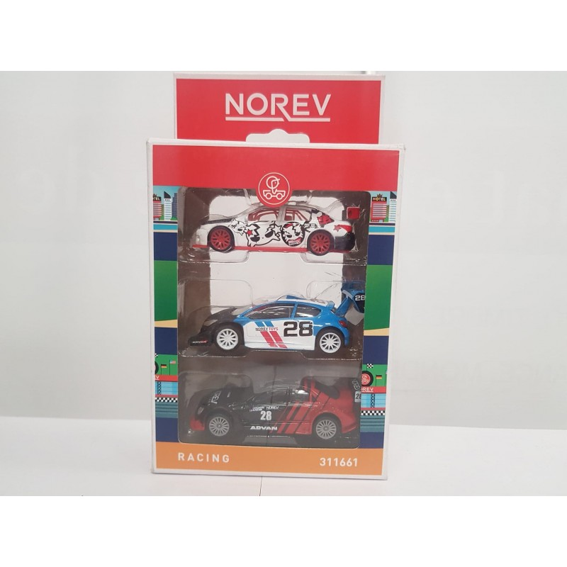 BOITE 3 PETITES VOITURES NOREV RACING