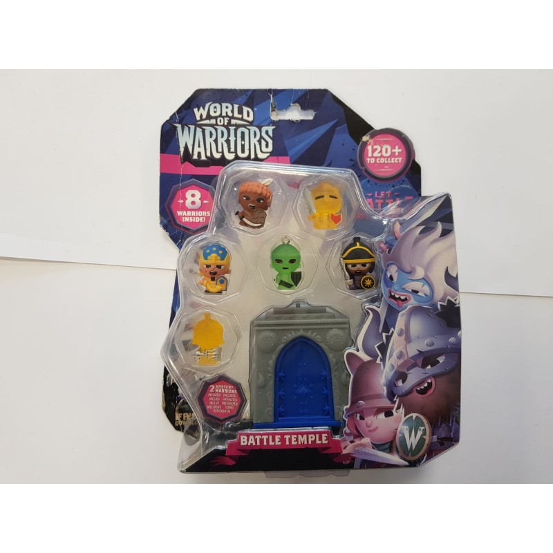 WORLD OF WARRIORS BATTLE TEMPLE 8 FIGURINES DONT 2 MYSTERES de chez GIOCHI PREZIOSI