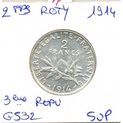 FRANCE 2 FRANCS ROTY 1914 SUP